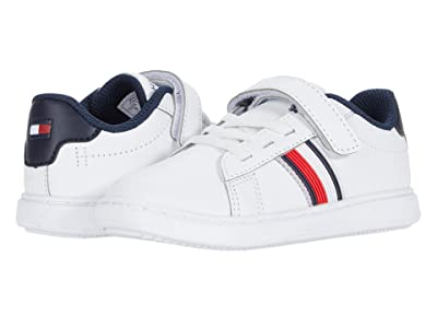 Tommy Hilfiger Kids Iconic Court 2.0 PS (Toddler) (White Smooth) Kid