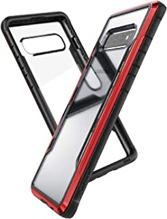 X-Doria Defense Shield Series, Samsung Galaxy S10 Plus Phone Case - Military Grade Drop Tested, Anodized Aluminum, TPU, and Polycarbonate Protective Case for Samsung Galaxy S10 Plus (Red)