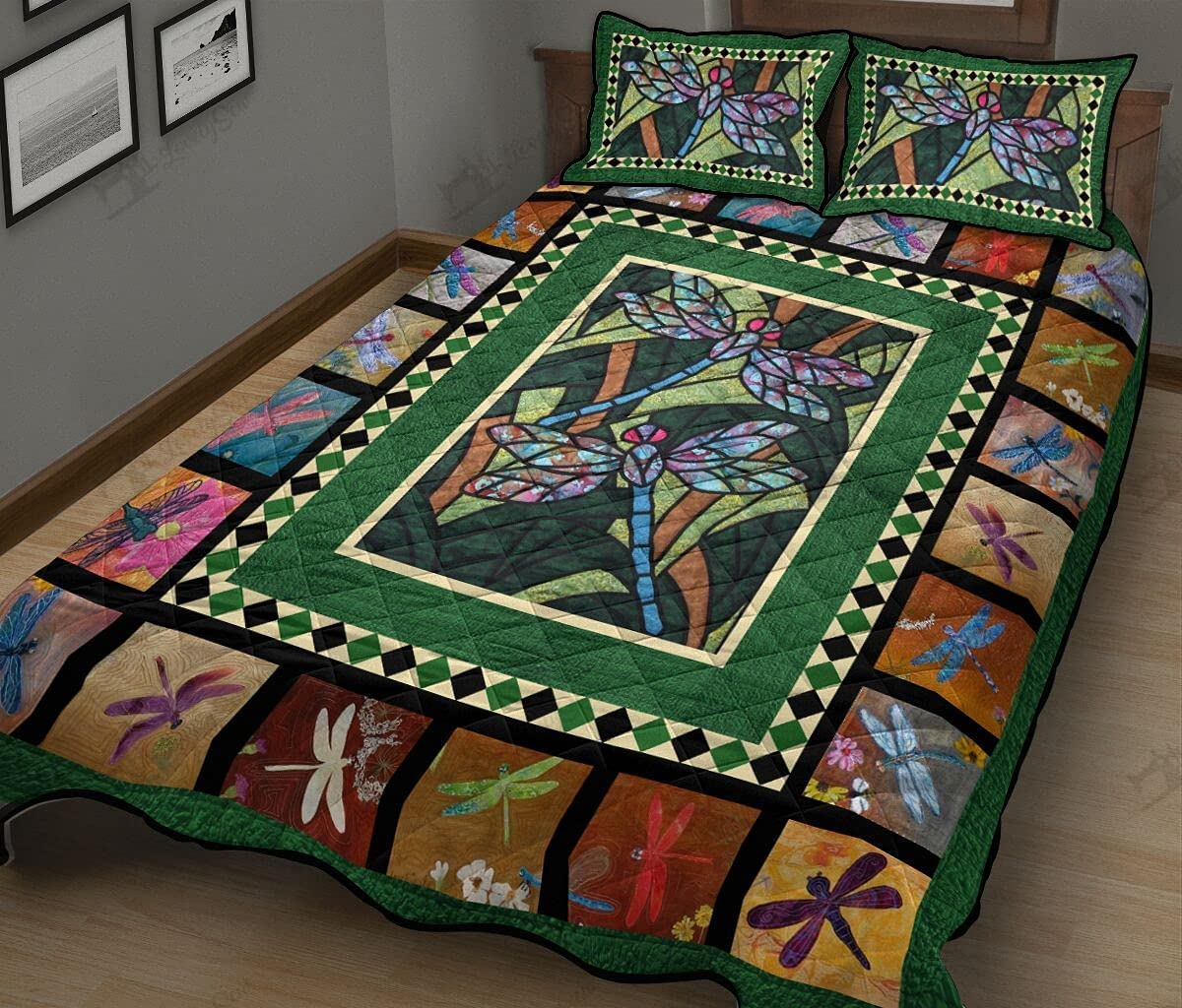 Dragonfly Moments Quilt Bedding Set Washington Mall Pi Cover Popular standard with 3 Pieces