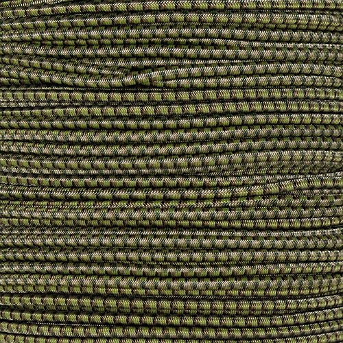 Golberg 1/8 Inch Diameter Shock Cord - Elastic Stretch Rope for Custom Bungee Lengths - (Multi Camo, 10 Feet)