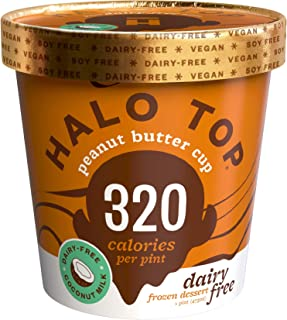 Halo Top, Dairy-Free Peanut Butter Cup, Pint (8 count)