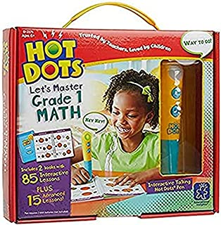 Educational Insights Hot Dots Let's Master 1st Grade Math, 100 Lessons That Cover Key Math Skills, Ages 6 and Up