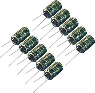 XZANTE R 20 Pcs 1000uF 25V 105C Radial condensateurs electrolytiques Noir 10x17mm