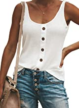 ZKESS Womens U Neck Knot Twist Long Sleeve/Sleeveless Cami Tank Tops Casual Shirts Blouses