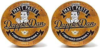 Matt Paste By Dapper Dan, High Hold Low Shine, Perfect For All Hair Styles, Vintage Cologne Fragrance 2 x 100ml Duo Pack