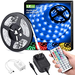 LE LED Strip Lights, 16.4ft RGB 5050 LED Strips with...