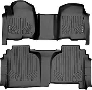 MAX LINER A0401/B0402 for 2019-2021 Silverado/Sierra 1500 Double Cab with 1st Row Bench Seat, Black.