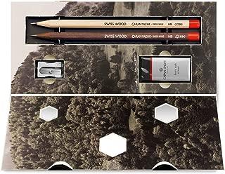 Caran d'Ache : Swiss Wood Graphite Pencils & Accessories Gift Set