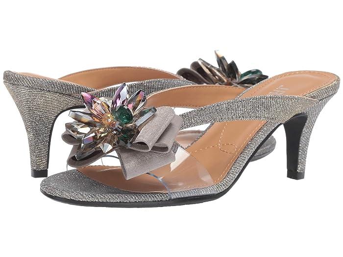 J. Renee Gredel (Pewter Glitter/Clear) Women's 1-2 inch heel Shoes