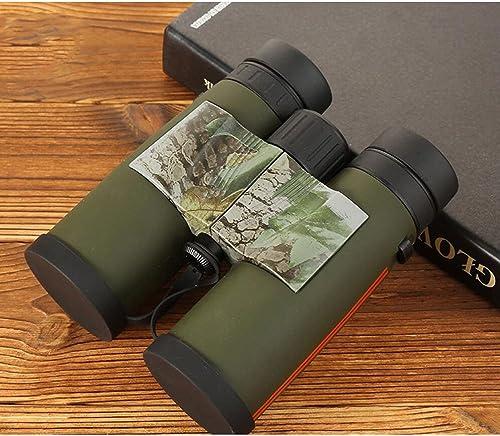 LXYFMS Jumelles Adultes 8x42, Jumelles Anti-buée étanches Compactes HD, Observation De Randonnées, Chasse Au Sport, Chasse - Objectif BAK4 avec Prisme FMC Télescope (Couleur   vert)