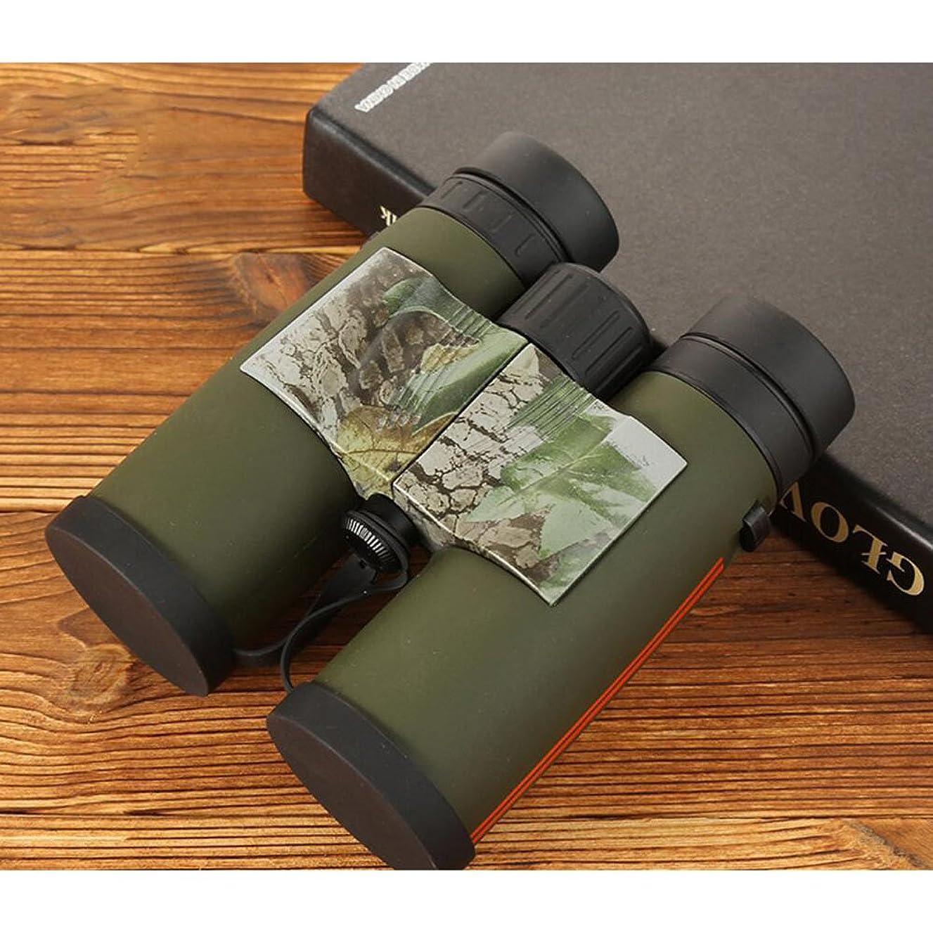 FLYSXP 8x42 Adult Binoculars, HD Compact Waterproof Anti-Fog Binoculars Bird Watching Hiking Concert Hunting Sport - BAK4 Prism FMC Lens Binoculars (Color : Green)
