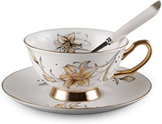 Neolith Bone China Teacup Spoon and Saucer Boxed Set