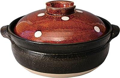 マルヨシ陶器 ドットアメ釉 IH7号鍋 M0291