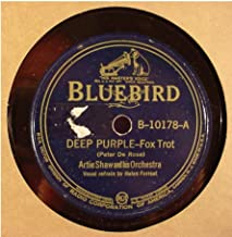 Artie Shaw & His Orchestra Very Nice Original 10 Inch 78 rpm - Deep Purple / Pastel Blue - Bluebird Records B-10178 - 1939