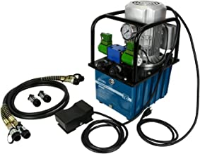 TEMCo HP0003 - Electric Hydraulic Pump Power Pack Unit 2 Stage Double Acting 120v 10k psi 488 Cubic in Capacity - 5 Year Warranty
