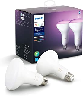 Philips Hue White and Color Ambiance 2-Pack BR30 LED...
