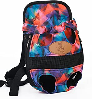 MaruPet Front Cat Dog Backpack Travel Bag Sling Carrier Portable Outdoor Lightweight and Safe Soft Comfortable Puppy Kitty Rabbit Double-Sided Pouch Shoulder Carry Tote Handbag