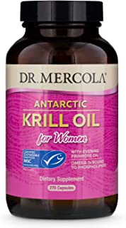 Dr. Mercola, Antarctic Krill Oil, 90 Servings (180 Capsules), Support a Healthy Heart, Overall Joint Comfort and Immune Fu...
