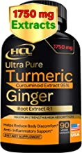 Turmeric Curcumin with Ginger - 1750mg of 95% Curcuminoids and Ginger Extract Supplement - Strong Natural P...