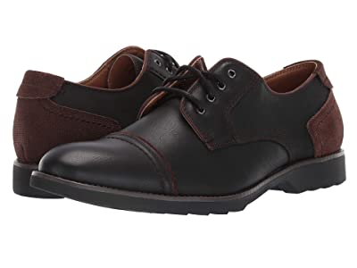 Dockers Murray Cap Toe Oxford (Black Suede/Distressed Synthetic) Men