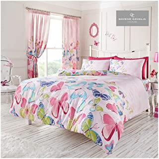 Gaveno Cavailia Butterfly Duvet Cover, Reversible Soft & Cosy Quilt Bedding Set, Luxury Bedroom Accessory, Pink, Kingsize,...