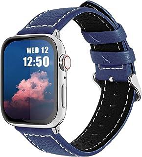 Fullmosa LC-Jan Cuero Correa, 7 Colores Correa Compatible Apple Watch/iWatch Series SE, Series 6, Series 5, Series 4, Seri...