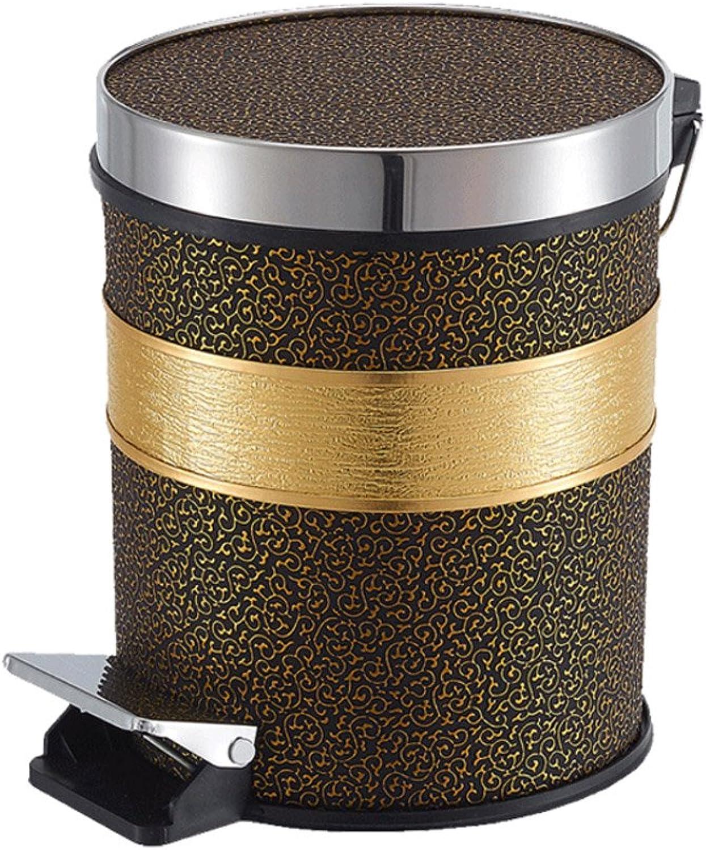 Zfggd Cubo de Basura Bao de Cocina de Acero Inoxidable con Tapa Contenedor de Basura