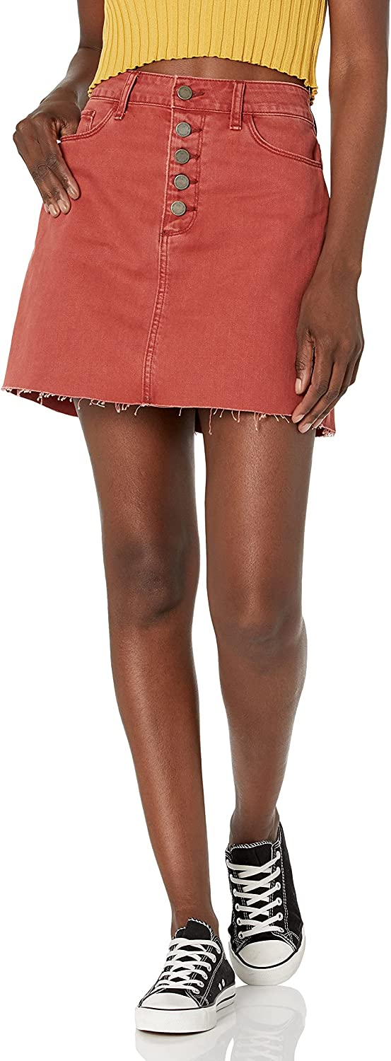 PAIGE Women's Aideen Skirt W/Exposed Button Fly