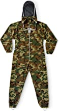 Natural Apiary Apiarist Beekeeping Suit Outfit 1 x Non-Flammable Fencing Veil Mesh Total Protection for Backyard & Beginner Bee Keepers, Camouflage