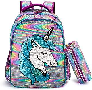 Mochilas Escolares Juveniles, Lentejuelas Mochila para Niñas Unicornio Primaria Mochila Infantil 16
