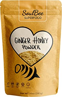 SoulBee GINGER HONEY - Instant tea - Low in Calories - Non-GMO, Gluten Free, Dairy Free, Kosher - High Dissolution perfect...