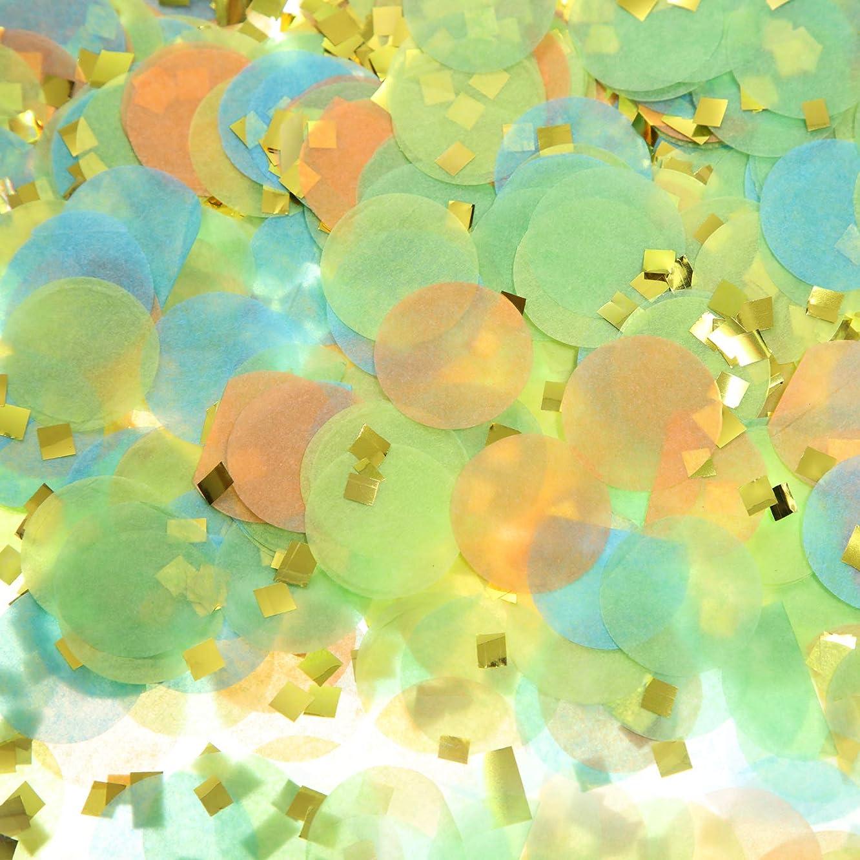 Round Tissue Paper Table Confetti Dots for Dinosaur Birthday Party Decoration, 1.76 oz (Dinosaur Confetti, 2.5 cm)