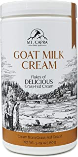 MT. CAPRA SINCE 1928 Goat Milk Cream Flakes | Shelf-Stable, Dried Goat Milk Cream Flakes for Coffee, Desserts, Rich and Cr...