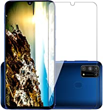 POPIO Tempered Glass for Samsung Galaxy F41 / Samsung Galaxy M31 / M31 Prime/Samsung Galaxy M21 (Transparent) Full Screen Coverage (except edges), Pack of 1