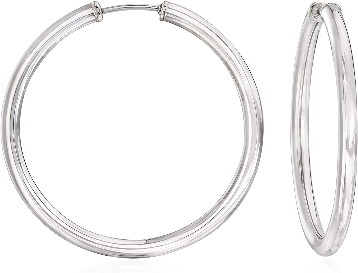 Max 65% OFF Ross-Simons Sterling Challenge the lowest price of Japan ☆ Silver Medium Earrings Endless Hoop
