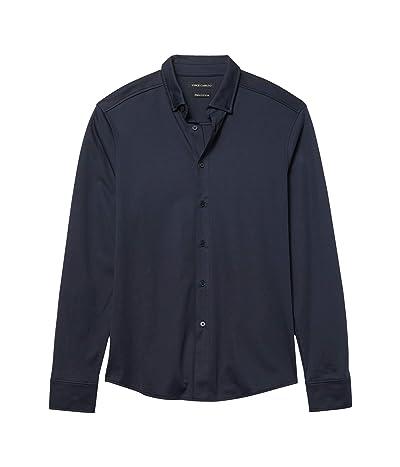 Vince Camuto Pique Knit Sport Shirt (Navy) Men