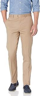Bensol Men's Flat Front Stretch Cotton Khaki Pant