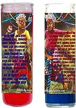 Gifts by Lulee, LLC Los Ibeyis o Jimaguas Vela Santeria Collection Con Imagen a Todo Color y Oracion - Sets DE 2 Velas UNA Roja y otra Azul