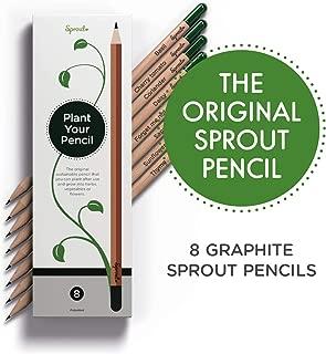 Sprout, lapices de Grafito plantable con Semillas, Madera Eco amigable y sostenible Natural, Juego de Regalo con Hierbas y Flores, Paquete de 8,