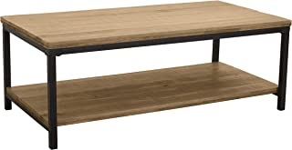 Ravenna Home Justin Industrial Shelf Storage Coffee Table, 43.3