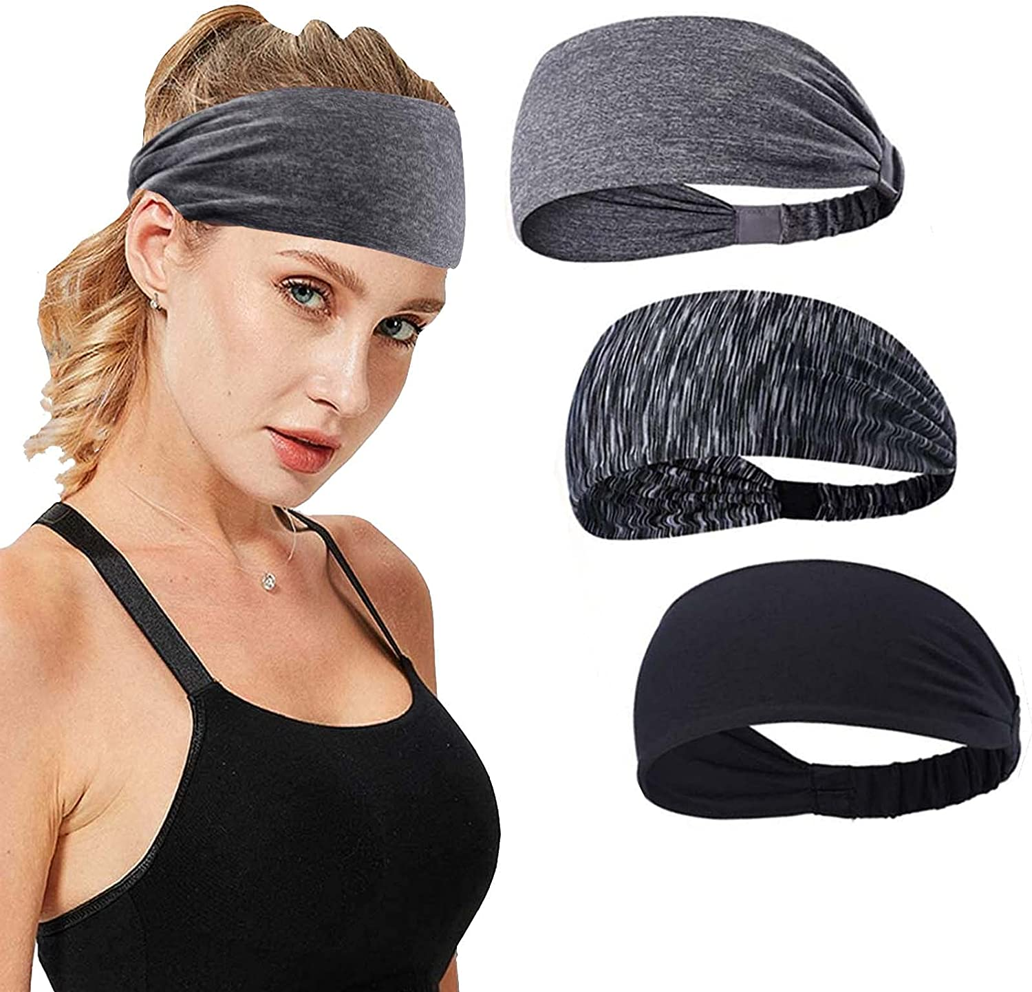 Hjiaruiky Workout Max 73% OFF Headbands for Women Athletic Men Special price Headband Mois