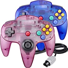 $25 » 2 Pack N64 Controller, Classic Wired N64 Controllers with Upgraded Joystick for Original Nintendo 64 Console (Sapphire Blu...