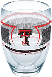 Tervis 1230209 Texas Tech Red Raiders Reserve Insulated Tumbler with Wrap 9oz Stemless Wine Glass Clear