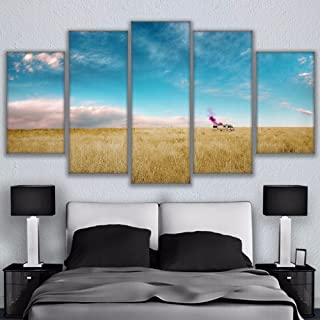HD Printed Canvas Pictures Poster Living Room Home Decor 5 Pieces Thick Growth Of Grass Breaking Bad Rv Painting Wall Art,20x35 20x45 20x55cm,Frame