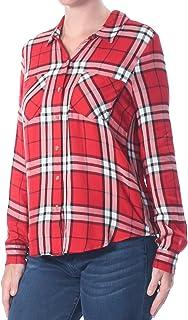 Lucky Brand Women's Button Side Plaid Shirt