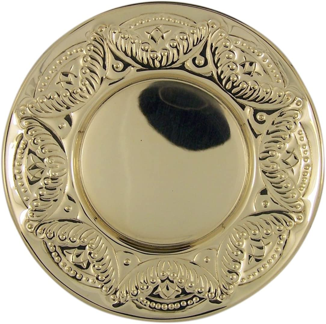 Needzo Religious Gifts High Surprise price Polished Brass Etched C Soldering Border Paten