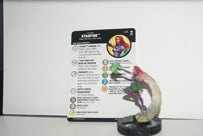 Max 88% OFF Wizkids Rare Heroclix DC Rebirth SR 055 Super Rare Starfire w Card