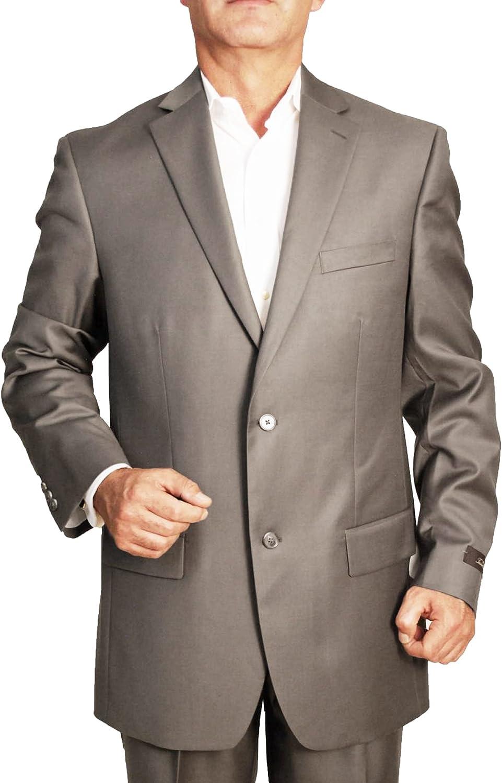 Tasso Elba Men`s Jacket, 2 Button Wool Cashmere Blend Sportcoat (Taupe)