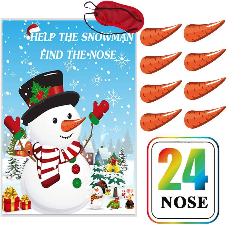 """snowman noses 1 /""""  set of 12 glue on carrot nose"""