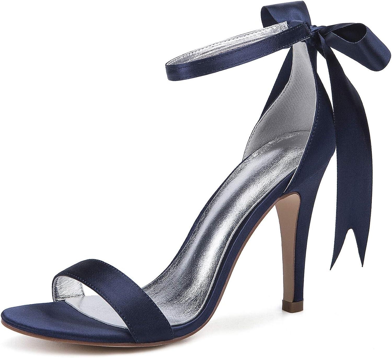 SERAPH 430-20 Frauen Knchelriemen Pfennigabsatz Sandalen Peep Toe Satin Bow Pumps Abend Hochzeit Schuhe